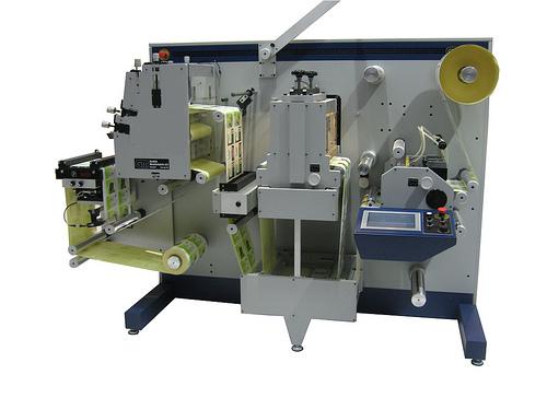 Вътрешен разрез на DC 330 mini - машина за печат на етикети на ролка
