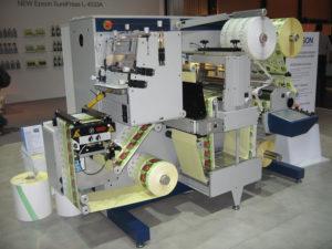 етикети на ролка - процес на производство