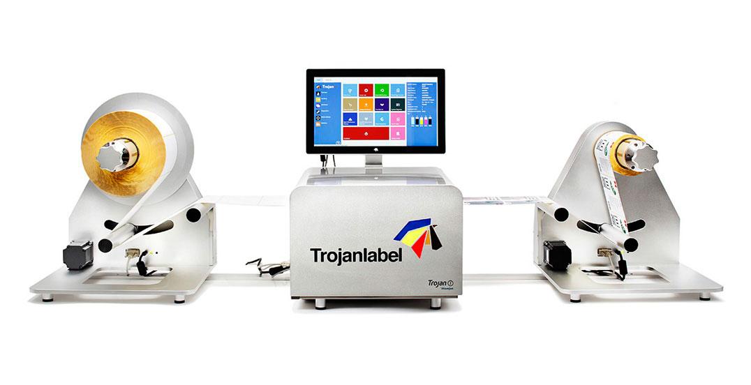 машина за печатане на етикети - принтер за етикети Trojan One